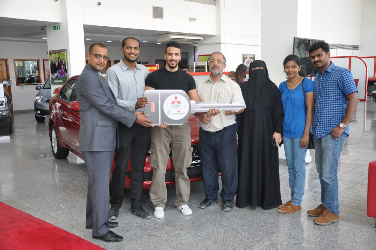 "Al Habtoor Motors rewards 10 Mitsubishi customers  of ""Pick your deal"" Ramadan Promotion  with Lancer EX Cars"
